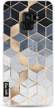 Casetastic Softcover Samsung Galaxy A8 (2018) - Soft Blue Gradient Cubes