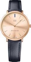 Tommy Hilfiger TH1781693 Horloge - Leer - Blauw - 35 mm