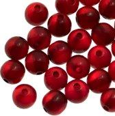 Resin Kralen (8 mm) Bright Red Shine (50 Stuks)