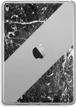 iPad Pro 9,7 inch Transparant Hoesje (Soft) - Zwart marmer