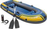 Intex 68370 - Challenger 3 - Opblaasboot - 3-Persoons - Inclusief peddels en handpomp