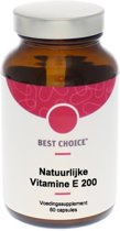 Best Choice Natuurlijke Vitamine E 200 IE - 60 Capsules  - Vitaminen