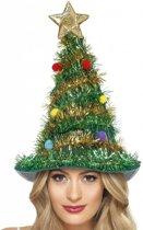 Versierde Kerstboom hoed voor volwassenen - Verkleedhoofddeksel