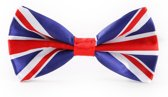 Brits Vlinderdasje met print van de Britse vlag. Verenigd Koninkrijk -  Engels vlinderstrikje - verstelbare vlinderstrik