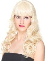 Lange golvende blonde pruik voor vrouwen - Verkleedpruik - One size
