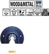 87 mm. Bi-metaal rond zaagblad voor hout en metaal 1st. (Universeel)
