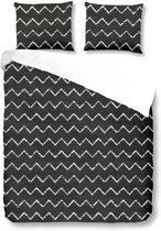 Good Morning Grafiet patroon - dekbedovertrek - lits-jumeaux - 240x200/220 - Antraciet