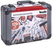 KWB Gereedschapskoffer 129-delig – Aluminium koffer