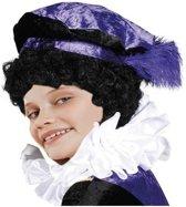 Zwarte of roetveeg Pieten pruik voor kinderen