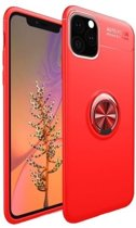 Teleplus iPhone 11 Pro Case Silicone Red with Ravel Ring hoesje