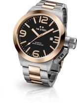 TW Steel CB131 Canteen Bracelet Collection - Horloge - Staal - 45 mm - Zilverkleurig
