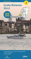 ANWB waterkaart J - Grote Rivieren West 2018/2019