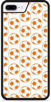 iPhone 7 Plus Hardcase hoesje Orange Soccer Balls