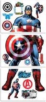 Muursticker groot Avengers Captain America - Walltastic - 120 cm hoog