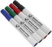 Permanente markers   4 kleuren   stiften   zwart, rood, blauw en groen