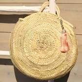 Myroundie - Roundie Bag - Ronde Ibiza Boho Tas 48 - Hand gevlochten Palmblad Tas – Maat M