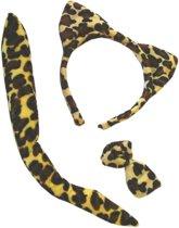 Luipaard verkleed accessoires set