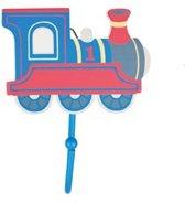 kapstok set van 2 stuks:  trein hout met metalen haak
