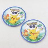 Pokemon verjaardags decoratie borden 10 stuks
