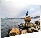 FotoCadeau.nl - De kleine zeemeermin Kopenhagen Aluminium 180x120 cm - Foto print op Aluminium (metaal wanddecoratie)