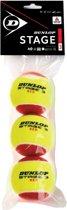 Dunlop Stage 3 Tennisballen rood/geel - 3 stuks