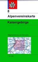 DAV Alpenvereinskarte 08 Kaisergebirge 1 : 25 000 mit Wegmarkierungen und Skirouten