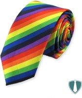 Fun & Feest stropdas regenboog