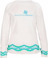 Snapper Rock UV werend Zwemshirt Kinderen lange mouwen Mermaid - Wit - Maat 116-122