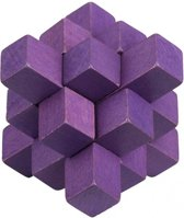 Moses Be Clever! Houten Smartpuzzel Paars 6 Cm