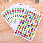 1120x Smiley stickers in verschillende kleuren   Klein
