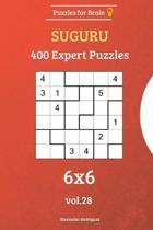 Puzzles for Brain - Suguru 400 Expert Puzzles 6x6 Vol. 28