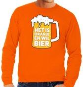 Oranje Het is oranje en wil bier sweater heren L