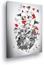 Origami Birds Canvas Print 100cm x 75cm