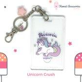 Unicorn Crush ID card Swarovski Sleutelhanger Tashanger
