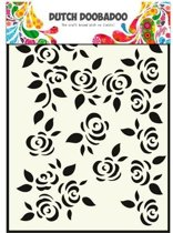 Dutch Doobadoo Dutch Mask Art stencil rozen  A5 470.715.022