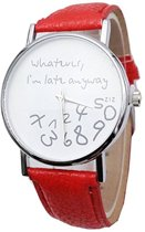 Zoëies® whatever I'm late horloge rood