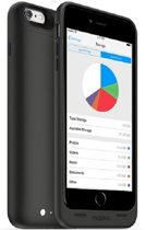 Mophie space pack 64GB iPhone 6 Plus - Zwart
