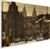 Een straat bij Liverpool in het Verenigd Koninkrijk Plexiglas 90x60 cm - Foto print op Glas (Plexiglas wanddecoratie)