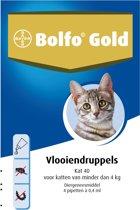 Bolfo Gold 40 Anti vlooienmiddel - Kat - 0 Tot 4 kg - 4 pipetten