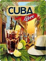 Cuba Libre - Retro reclame wandbord - Amerika USA - Metaal