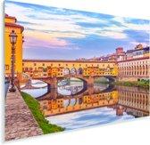 Kleurrijke afbeelding van de Ponte Vecchio in Italië Plexiglas 180x120 cm - Foto print op Glas (Plexiglas wanddecoratie) XXL / Groot formaat!