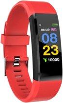 WiseGoods - Stappenteller - Activity Tracker - Horloge - Smart Watch - Armband - Calorieteller - Smart - Bloeddrukmeter - Fitnesstracker - Rood