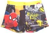 Spiderman zwembroek maat 128 geel