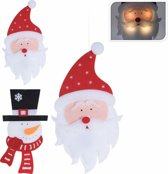Kerstman en sneeuwman met ledlampjes