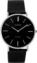 OOZOO Vintage Zwart horloge  (36 mm) - Zwart