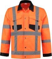 Yoworkwear Werkjasje polyester/katoen RWS oranje maat M