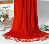 Premium Orange Red Cashmere Scarf - Winter Sjaal Oranje Rood - Shawl - Kasjmir omslagdoek
