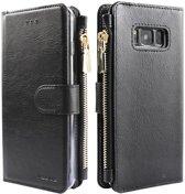 Xssive Wallet Book Case met Ritsvak voor Samsung Galaxy S10e - Zwart