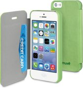 muvit iPhone 5 / 5S / SE Easy Folio Card case Linden Green