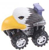 Toi-toys Stuntauto Stunt Car Met Dierenhoofd